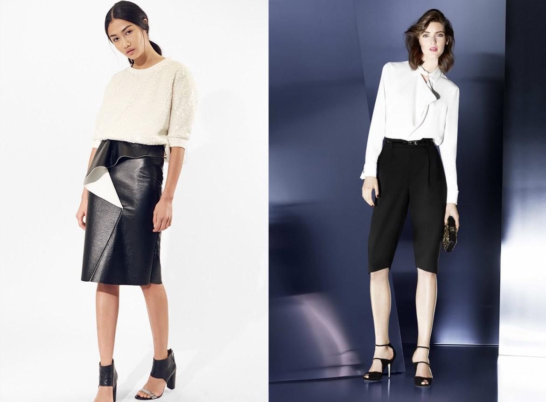 outfit grid womens black pants white shirts alternative shorts skirts