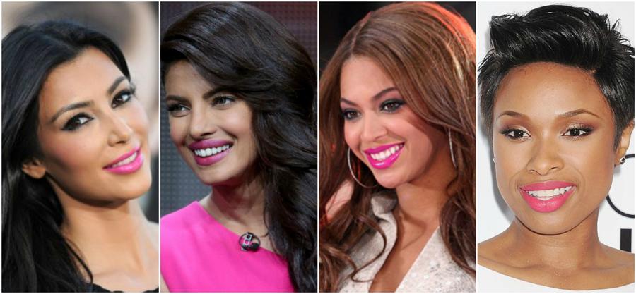bubblegum-pink-lipstick-complexion-skin-tone-kim-kardashian-priyanka-chopra-beyonce-knowles-jennifer-hudson
