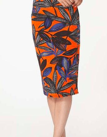 Orange Lily Pencil Skirt - £10