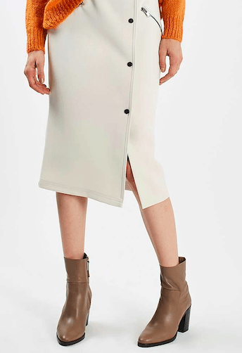 TopShop Popper Zip Midi Skirt £48