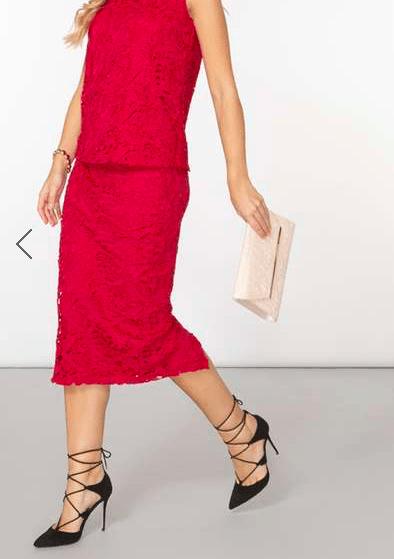DP Floral Lace Pencil Skirt £30