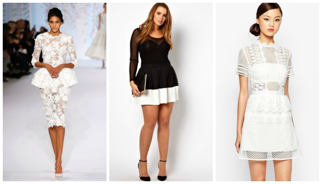 short-peplum-dresses