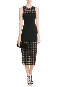 David Koma Sheer Panel Dress
