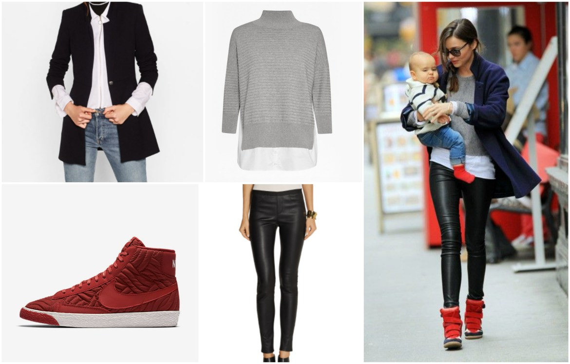Leather trousers and high tops
