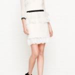 Three Floor Lace Peplum Mesh Sleeve Dress £295
