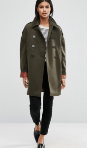 ASOS Oversized Pea Coat with Contrast Liner £85