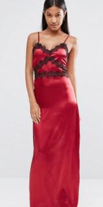 Boohoo Lace Trim Satin Slip Dress £25
