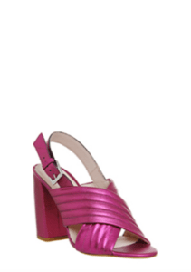 Office Americana Block Heels Pink Metallic £41