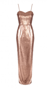 Gold All Over Sequin Dress £50 from Jane Norman