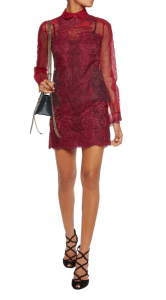 Valentino Lace and tulle mini dress £1850