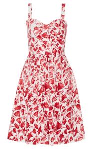 OSCAR DE LA RENTA Printed cotton-blend dress £470.25