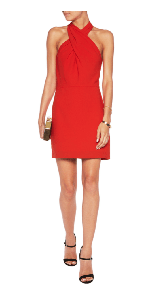 Halston Heritage Twisted crepe mini dress £150.75