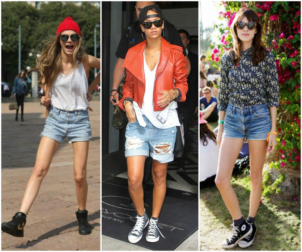 High tops and shorts