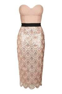 Sequin Scallop Edged Dress