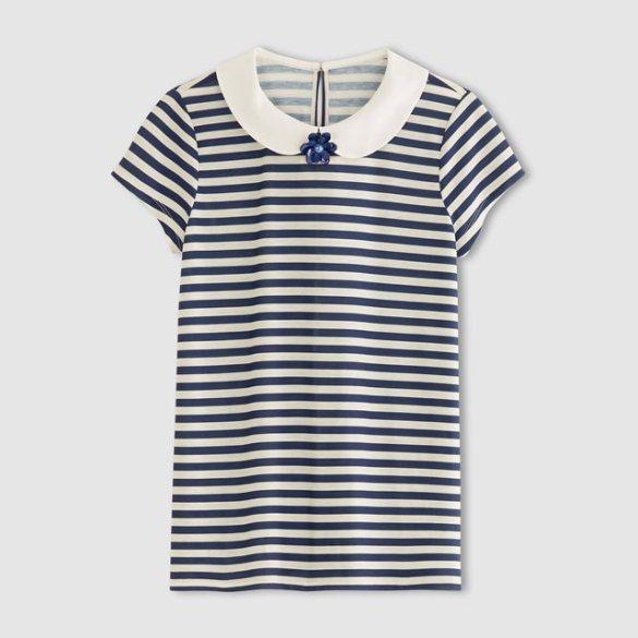 La Redoute Embellished Collar Breton T-Shirt £14.40