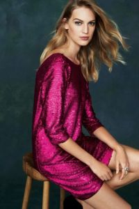 next-pink-long-sleeve-sequin-dress £75