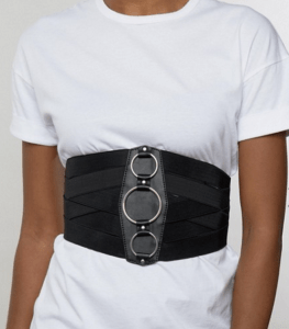 ASOS Wide Elasticated Waist Belt With Ring Detail £15.00