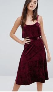 Warehouse Velvet Cami Dress £49.00