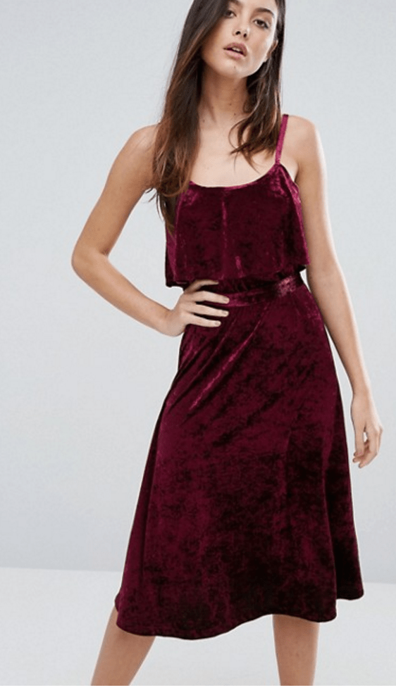 Warehouse Velvet Cami Dress £49.00
