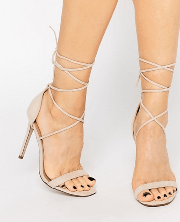 Missguided Lace Up Barely There Sandal £15.00