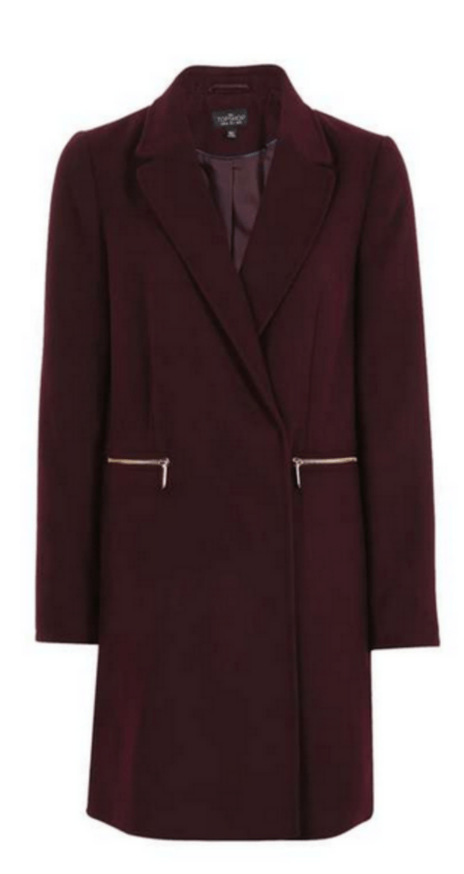Topshop Slim Fit Boyfriend Coat £59.00