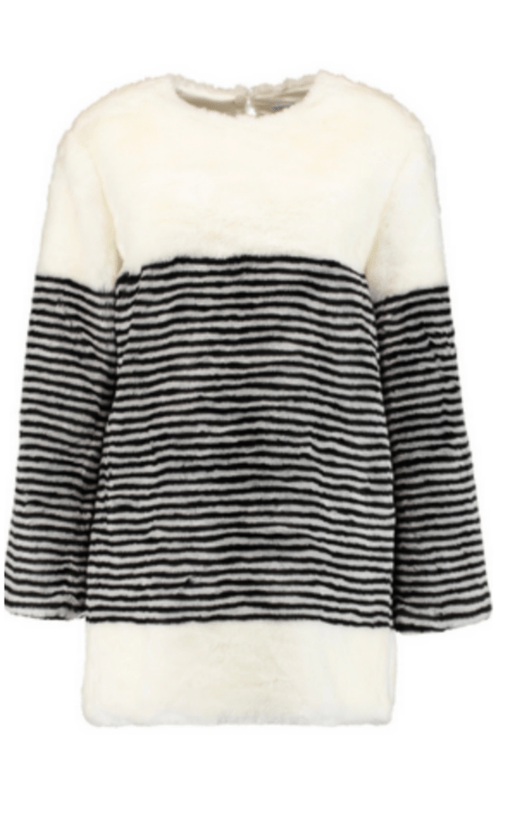 GOEN J Striped faux fur coat £186