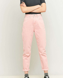 Urban Outfitters BDG Worn Pink Mom Jeans