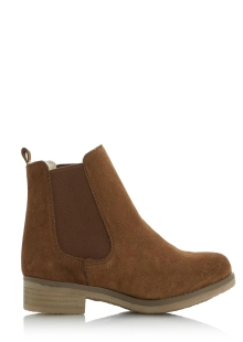 Dune Tan Warm Lined Chelsea Boots