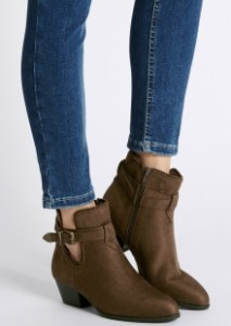 Marks and Spencer Block Heel Western Trim Ankle Boots