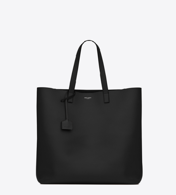 Saint Laurent Large Leather Shopper Tote