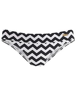Black & White Zigzag Bikini Bottoms by LASCANA - alexie