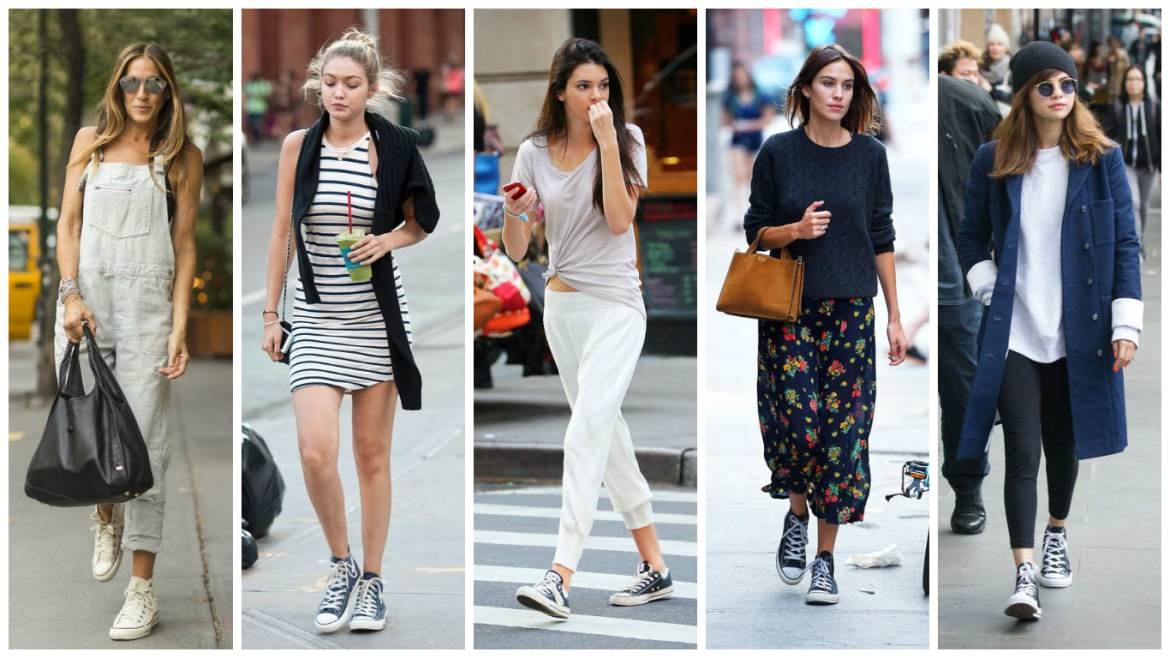 Five stylish celebrities show how to wear Converse shoes