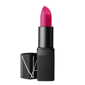 NARS semi-matte lipstick in funny face bright pink