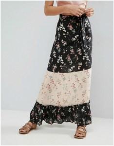 ASOS Maxi Skirt in Mix and Match Print