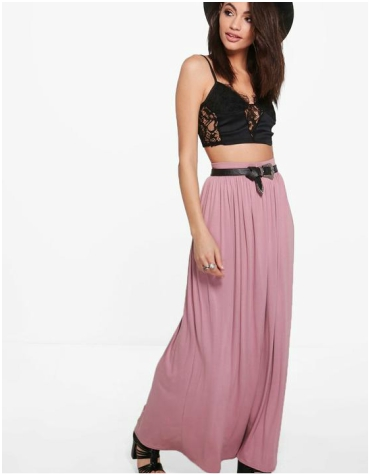 Boohoo Sophia Floor Sweeping Jersey Maxi Skirt