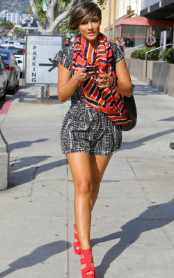 Frankie Sandford sundress and colorful scarf, street style