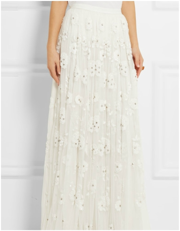 Net-a-porter Needle and Thread Embellished Tulle Maxi Skirt