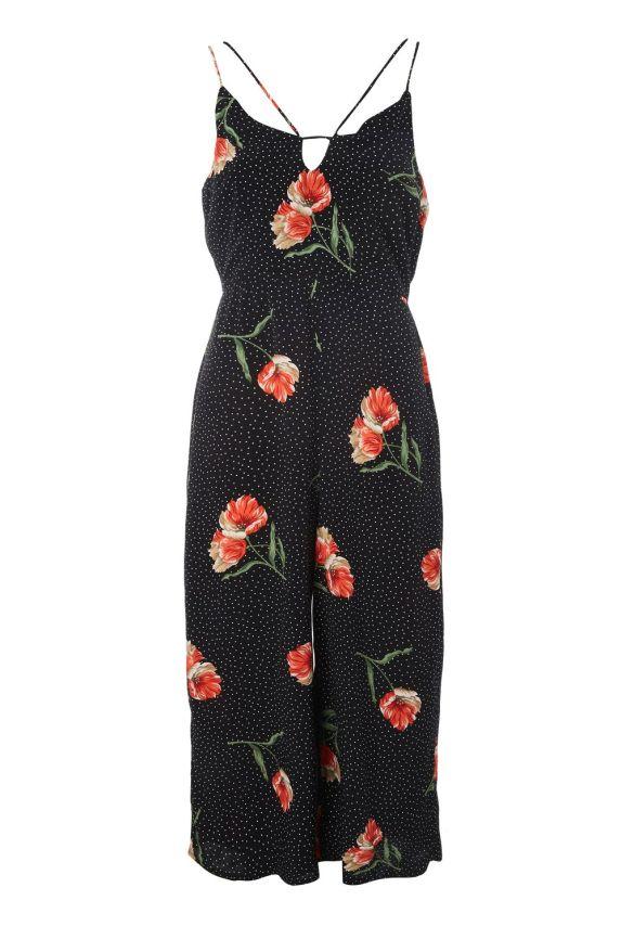 Spot and Floral Jumpsuit