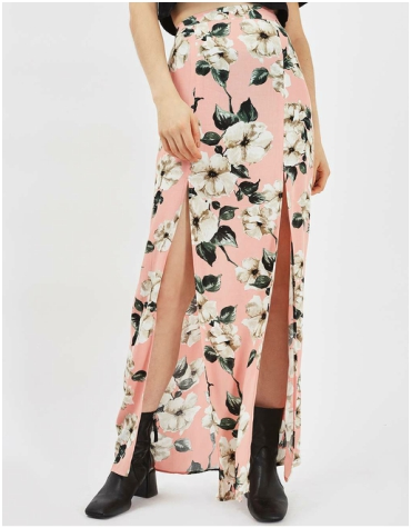 Topshop Sugar Flower Maxi Skirt