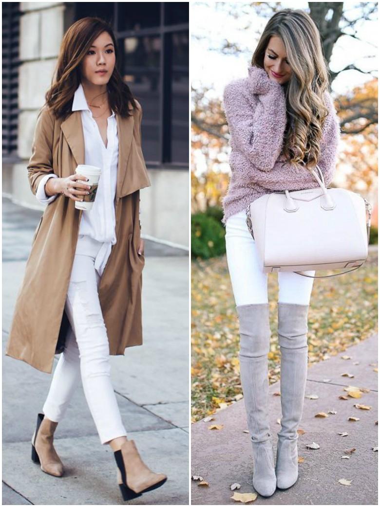 Autumn Winter White Jeans
