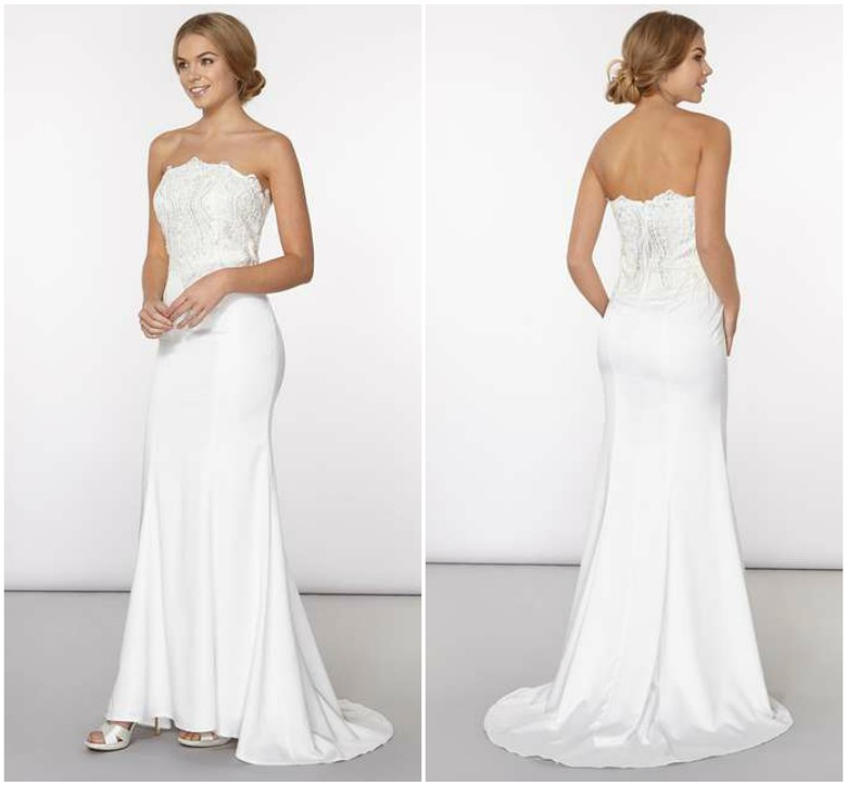 Dorothy Perkins - Off-White 'Amelie' Wedding Dress