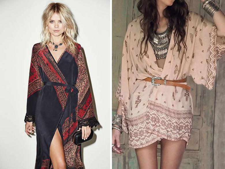 Kimono Jacket Outfit Inspiration Belted Waist