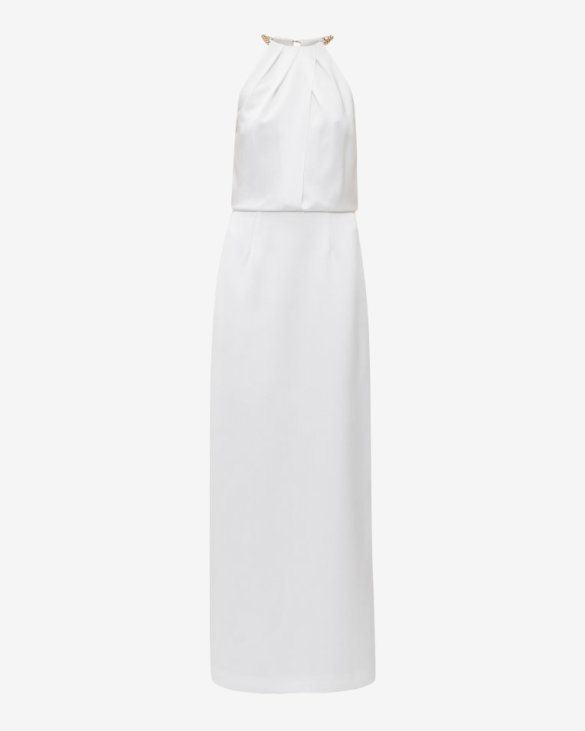 NGELI Chain neckline maxi dress