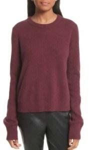 Nordstrom rag & bone Ace Cashmere Crop Sweater - $395 in burgundy