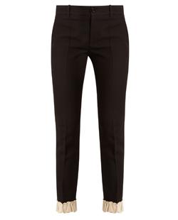 Gucci Ruffled-Hem Silk and Wool-Blend Trousers