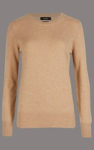 Marks and Spencer Autograph Pure Cashmere Round Neck Jumper - £75 in camel shop