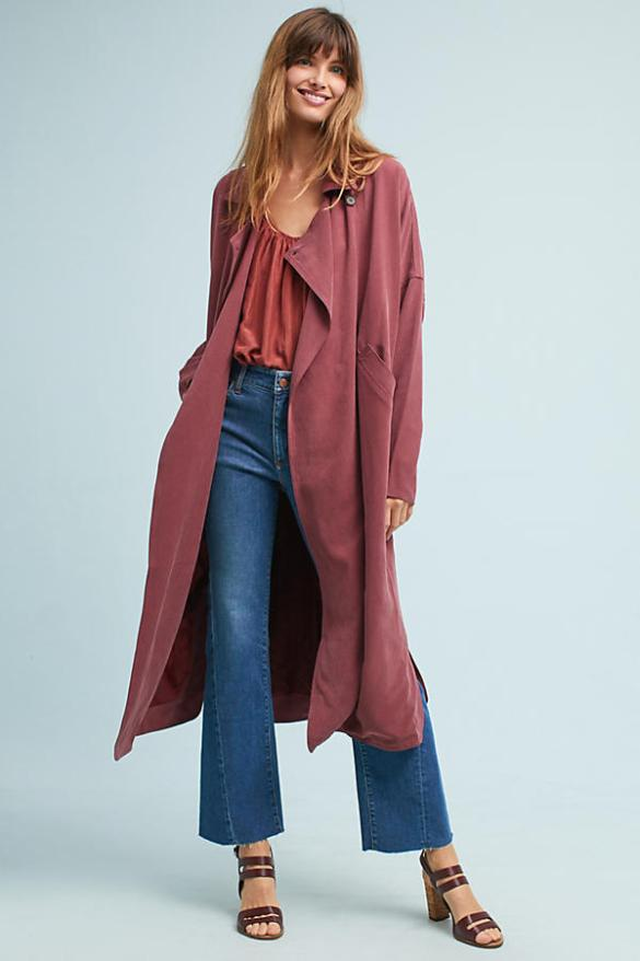 Anthropologie Cameron Trench, Plum