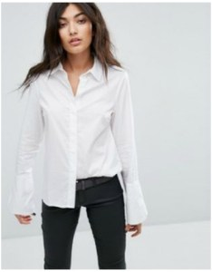 ASOS Noisy May Flared Cuff Sleeve Shirt