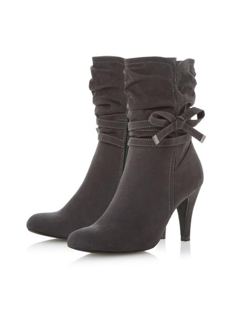 Head Over Heels Rayna Side Bow Detail Calf Boots
