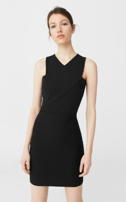 Mango Wrap neckline dress - little black dress